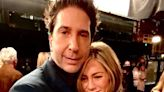 David Schwimmer and Jennifer Aniston Share 'Last Hug of the Night' in New Friends Reunion Pic