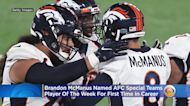 Brandon McManus Named AFC Special Teams Player Of The Week For First Time In His Career