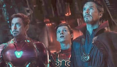 There was a version of 'Avengers: Infinity War' that showed Doctor Strange in an Iron Man suit with Tony Stark