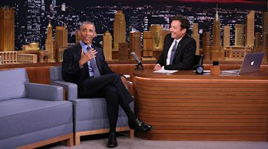 President Barack Obama Continues Late-Night Tour With Appearance On 'The Tonight Show'
