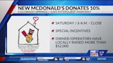 New McDonald's donating 10% of July 24 sales to Ronald McDonald House