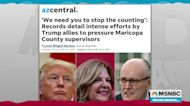 Recordings reveal Trump, allies attempting to pressure Arizona election officials