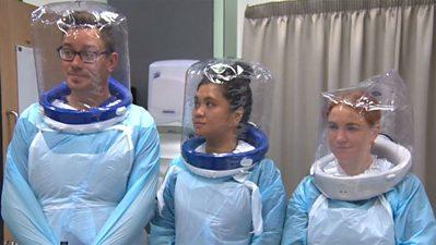 Doctors and nurses test 'bubble' PPE