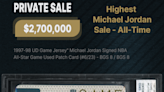 Card's sale for $2.7M sets Jordan-item record