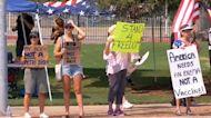 Dozens gather in Fresno to protest California's vaccine mandate