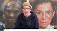 New York artist uses bubble wrap for art
