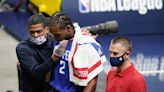 Kawhi Leonard bloodied by elbow to face, exits early in Clippers' win over Nuggets