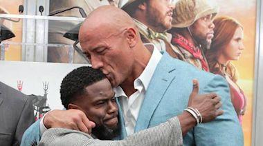 Watch Kevin Hart Hilariously Troll BFF Dwayne Johnson Over Gym Injury
