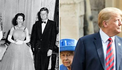 Photos show the Queen with the 12 US presidents she's met in her lifetime