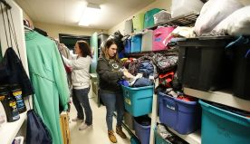 Food share table, caring closet help students in need