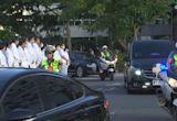 李登輝「最後巡禮」 移靈車隊繞府一圈