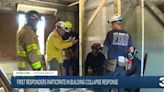 First Responders participate in building collapse response