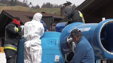 Snow Gun Used to Blast Italian Towns With Disinfectant