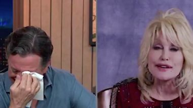 Stephen Colbert an emotional wreck after Dolly Parton sings to him: 'Like a lot of Americans I'm under a lot of stress right now'