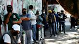 Mexicans queue for hours for oxygen for sick relatives