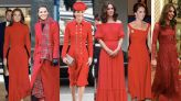 Why the Duchess of Cambridge wears so much red