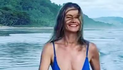 Paulina Porizkova, 56, Has 'Baywatch Moment' While Running in Bikini in New Instagram
