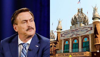 Some Mike Lindell fans reportedly stood in line for 7 hours to watch his rally at the Corn Palace - but when the event started, the venue was half empty