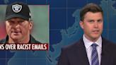 'SNL's Weekend Update Tackles Jon Gruden Resignation, Bisexual Superman, Wildfire At Reagan's Ranch, Timothée Chalamet Starrer...