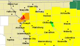 Tornado warning issued north of Kansas City for St. Joseph, Troy, Maysville