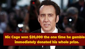 Nicolas Cage Says He Gambled Once, Won $20,000, and Donated Winnings To Orphans