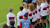 USWNT players stand for national anthem ahead of win over Brazil