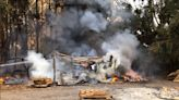 Container Fire South of Orcutt Spreads to Tree Grove, Barn