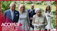 Queen & Senior Royals Reunite For G7 Summit In First Outing Since Lilibet's Birth