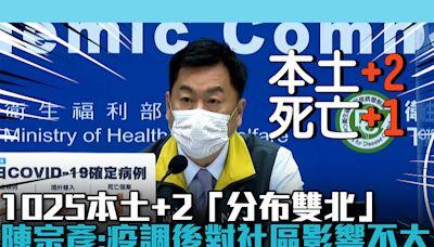 【疫情即時】1025本土+2「分布雙北」!陳宗彥:疫調後對社區影響不大   蕃新聞