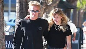 Miley Cyrus Slow Dances With Shirtless Cody Simpson After Bringing Him To Her Brother's Wedding