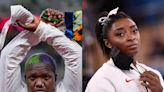 Raven Saunders's Olympics protest didn't break rules, US officials say, as she's backed by Simone Biles