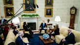 Biden, facing resistance in Congress, courts GOP governors