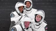 Civilian SpaceX crew 'grateful' ahead of launch