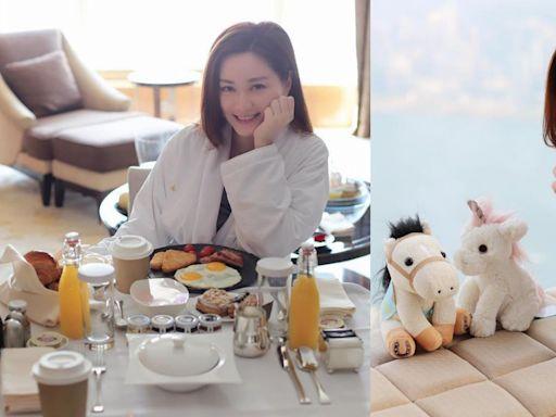 湯洛雯Staycation浴袍look嘆早餐 馬國明留言默認自己係攝影師?
