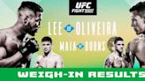 UFC Brasilia weigh-in results: Kevin Lee misses weight for closed-door main event
