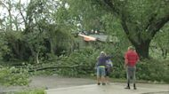 Tornado sends home's roof crashing down in Burlington