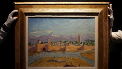Winston Churchill Moroccan landscape painting owned by Angelina Jolie fetches $11.5 million