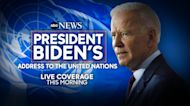 Biden to address UN for 1st time as president