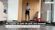 Un palo de golf, una moneda y un tenedor: el reto del tenista Álex de Miñaur durante el confinamiento