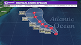 Tropical Storm Epsilon still stationary, new disturbance also forms