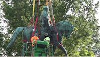 Statue of Confederate Gen. Robert E. Lee removed in Charlottesville, Virginia
