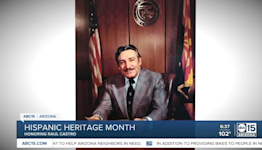 Phoenix Mexican Consulate opens exhibit for first, only Hispanic governor in Arizona Raul Castro