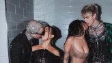 Kourtney just posted a group kissing video with Travis, Megan and MGK and people are losing it