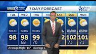 Rain chances dwindle as big time heat builds