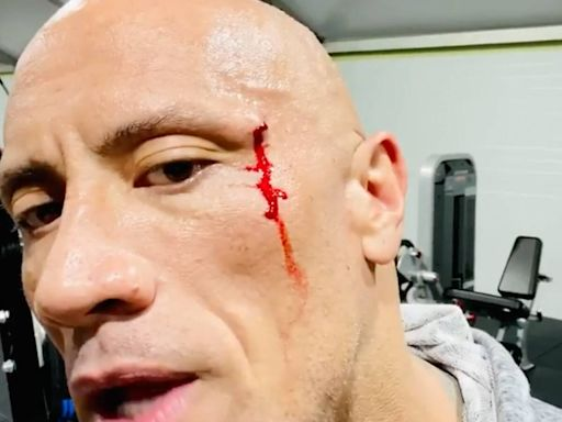 Watch Dwayne Johnson Taste His Blood After Suffering Injury at the Gym