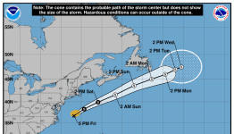 Tropical Storm Odette forecast to bring dangeroussurf along the East Coast