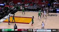 Markieff Morris with an and one vs the Boston Celtics
