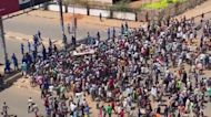 Police fire tear gas at demonstrators in Sudan