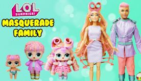 Masquerade Family DIY LOL Family Custom Fun Craft With Barbie and Ken