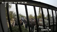 CCTV shows Myanmar police storming university